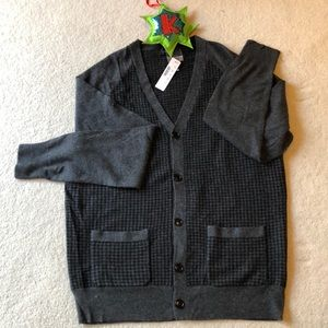 Charcoal Gray J. Crew Cardigan with pockets